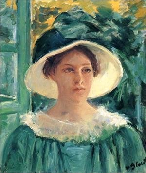 Mary Cassatt - Young Woman In Green, Outdoors In The Sun