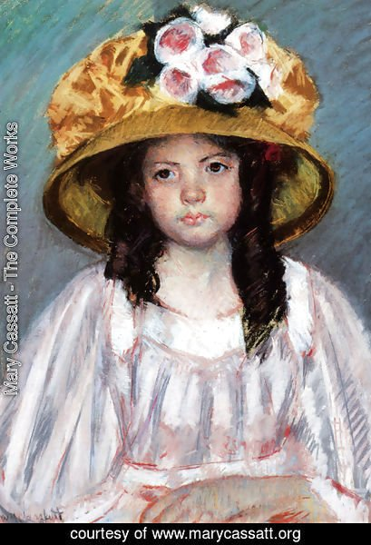 Mary Cassatt - Fillette Au Grand Chapeau