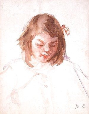 Mary Cassatt - Head of Francoise Looking Down (no.4)