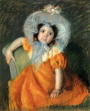 Mary Cassatt - Child In Orange Dress