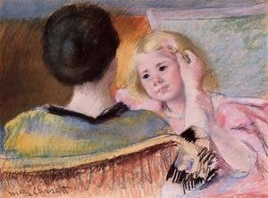 Mary Cassatt - Mother Combing Sara's Hair (no.2)