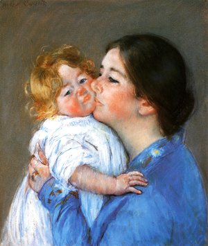 Mary Cassatt - A Kiss For Baby Anne