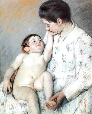 Mary Cassatt - Baby's First Caress
