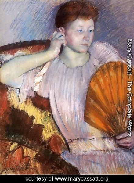 Mary Cassatt - Contemplation (or Clarissa Turned Right with Her Hand to Her Ear)