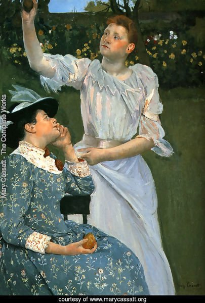 Young Women Picking Fruit