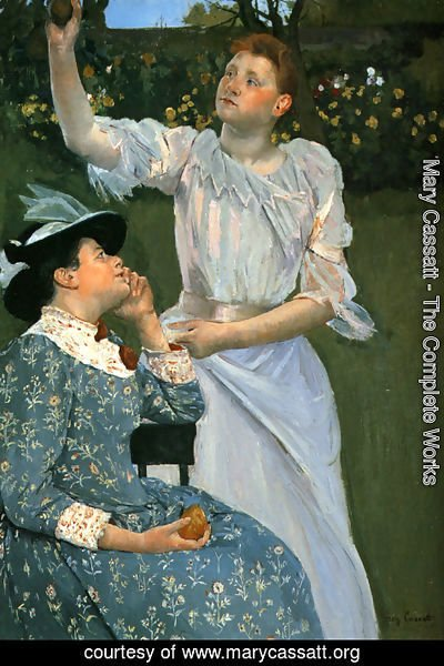 Mary Cassatt - Young Women Picking Fruit