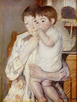 Mary Cassatt - Baby in His Mother's Arms, Sucking His Finger