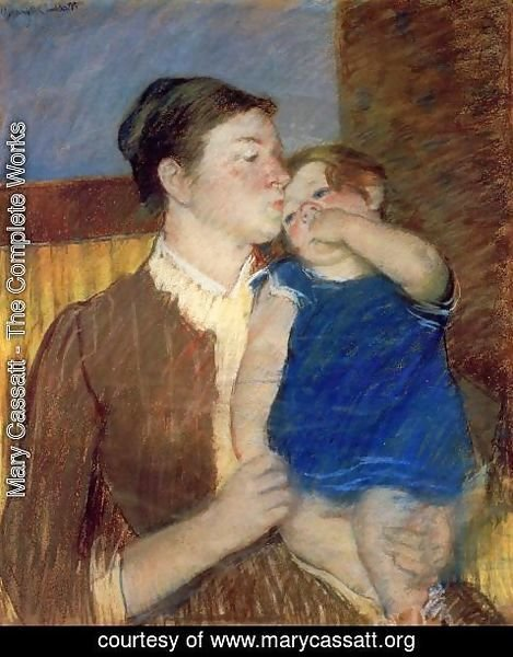Mary Cassatt - Mother's Goodnight Kiss