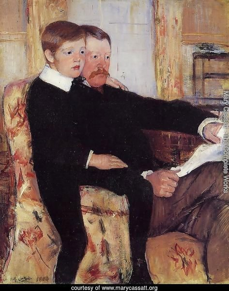Portrait of Alexander J. Cassat and His Son Robert Kelso Cassatt
