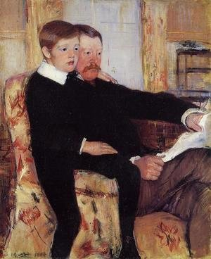 Mary Cassatt - Portrait of Alexander J. Cassat and His Son Robert Kelso Cassatt
