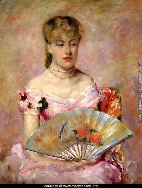 Lady with a Fan (or Portrait of Anne Charlotte Gaillard)