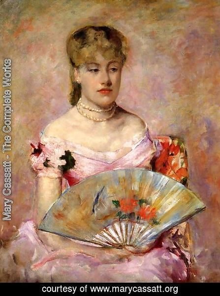 Mary Cassatt - Lady with a Fan (or Portrait of Anne Charlotte Gaillard)