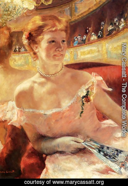 Mary Cassatt - Woman With A Pearl Necklace In A Loge
