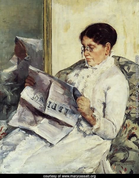 Portrait of a Lady (or Reading 'Le Figaro')