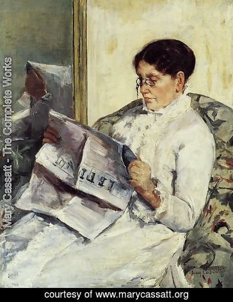 Mary Cassatt - Portrait of a Lady (or Reading 'Le Figaro')