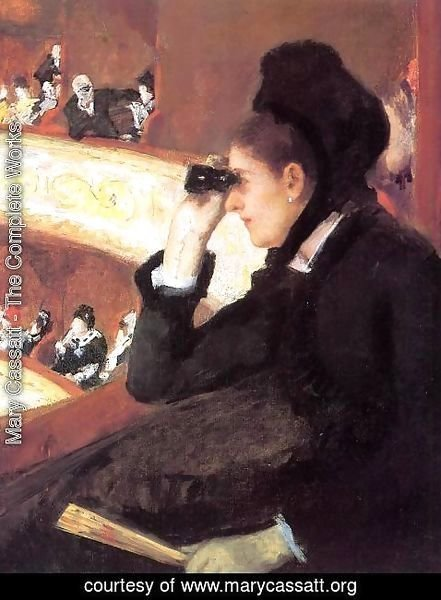 Mary Cassatt - At the Francais, a Sketch (or At the Opera)