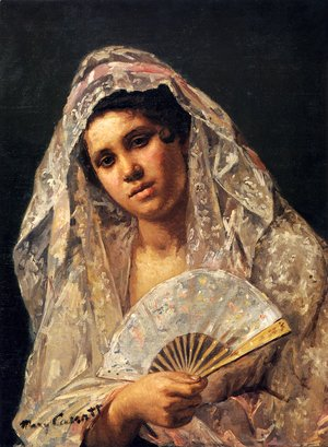 Mary Cassatt - Spanish Dancer Wearing A Lace Mantilla