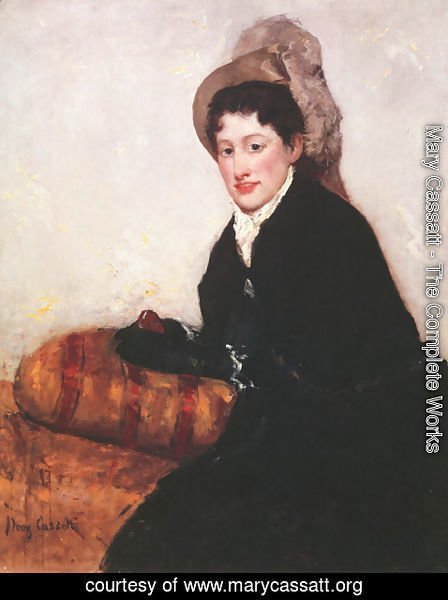 Mary Cassatt - Portrait of a Woman Dressed for Matinee