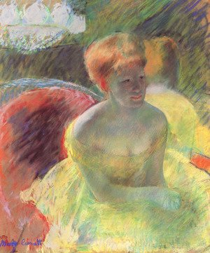 Mary Cassatt - Lydia Leaning on Her Arms, Seated in a Loge