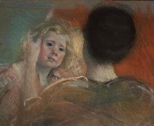 Mary Cassatt - Mother combing Sara's hair