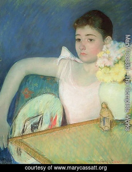 Mary Cassatt - Girl in Pink with a Fan, c.1889