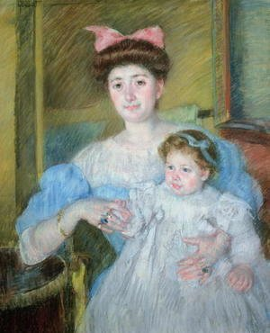 Mary Cassatt - The Countess Morel d'Arleux and her Son, c.1906