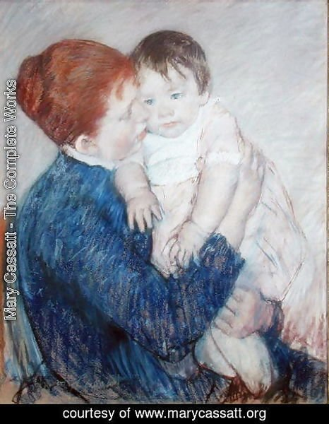 Mary Cassatt - Agatha and Her Child, 1891