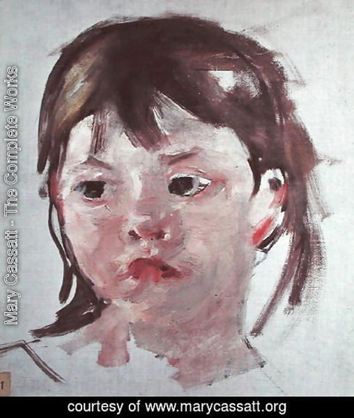 Mary Cassatt - Head of a Young Girl 2