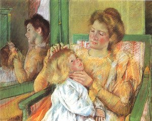 Mary Cassatt - Mother Combing Her Child's Hair, c.1901