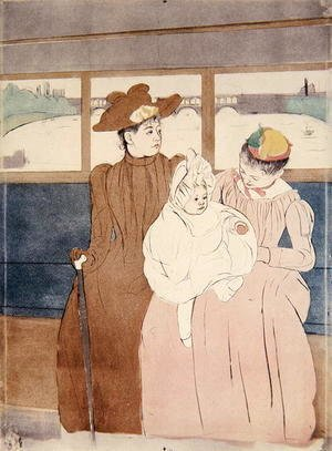 Mary Cassatt - In the Omnibus (The Tramway) 1891