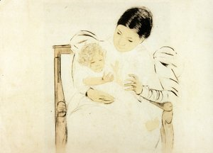 Mary Cassatt - The Barefooted Child, c.1896