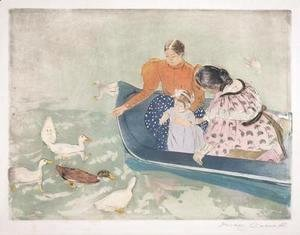 Mary Cassatt - Feeding the Ducks, 1895