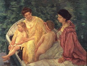 Mary Cassatt - The Swim, or Two Mothers and Their Children on a Boat, 1910