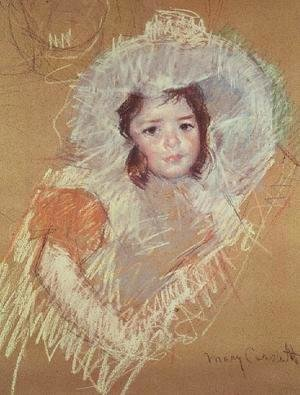 Mary Cassatt - Head of a young girl 3