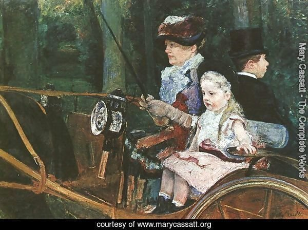 A woman and child in the driving seat, 1881