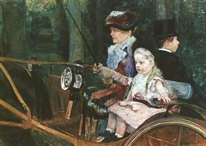Mary Cassatt - A woman and child in the driving seat, 1881