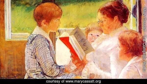 Mrs Cassatt Reading to her Grandchildren, 1888