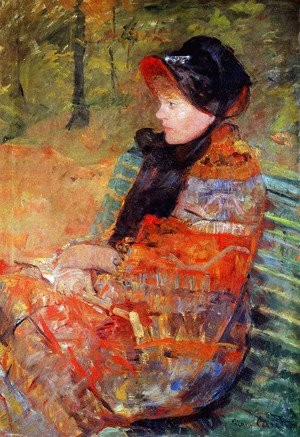 Mary Cassatt - Portrait of Mlle C. Lydia Cassatt, 1880