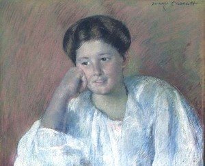 Mary Cassatt - Portrait of Louisine Elder (Mrs. Samuel T. Peters)