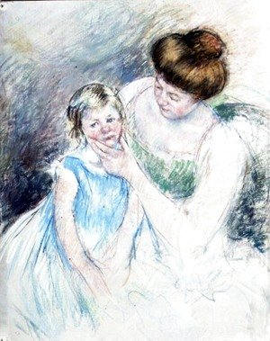 Mary Cassatt - Mother with Left Hand Holding Sara's Chin