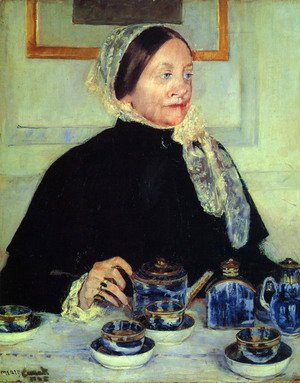 Mary Cassatt - Lady at the Tea Table, 1885
