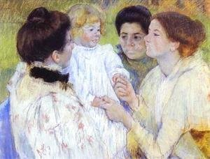 Mary Cassatt - Women Admiring a Child, 1897
