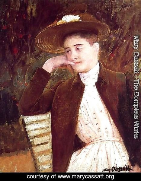 Mary Cassatt - Celeste in a Brown Hat, 1891