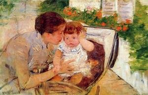 Mary Cassatt - Susan Comforting the Baby, c.1881