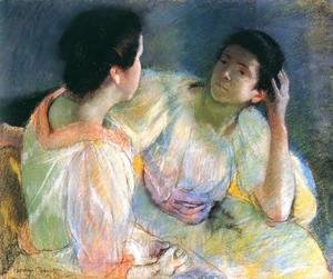 Mary Cassatt - The Conversation, c.1914