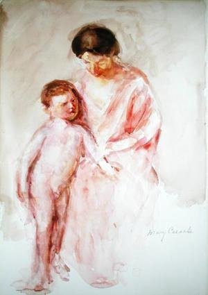 Mary Cassatt - Woman with a Nude Boy at her Side