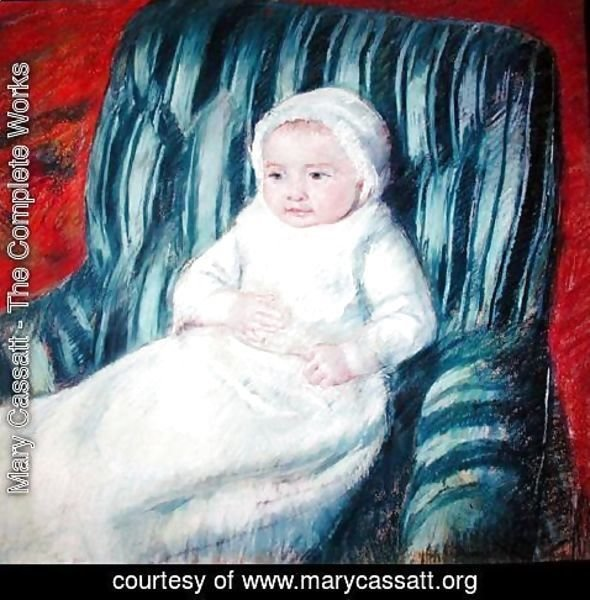 Mary Cassatt - Child on a Sofa, Miss Lucie Berard