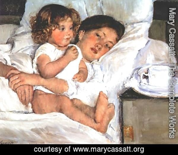 Mary Cassatt - Breakfast in Bed