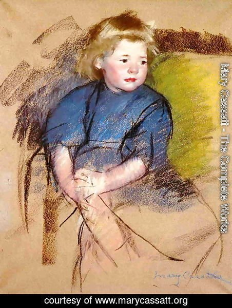Mary Cassatt - Portrait of a Young Girl (Simone)
