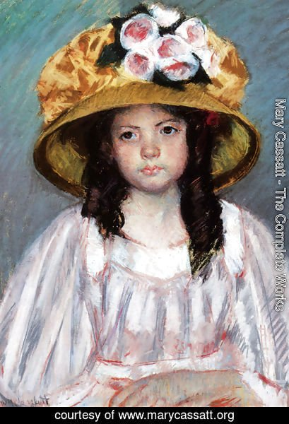 Mary Cassatt - Girl in a Large Hat